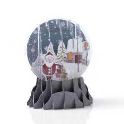 Biglietto di auguri tridimensionale a forma Babbo Natale