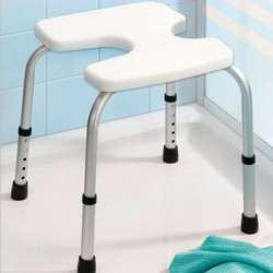 Sgabello da bagno regolabile