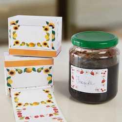 Etichette adesive per marmellate, set 100 pezzi