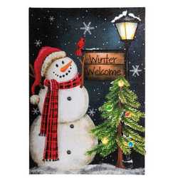 Quadro luminoso pupazzo di neve