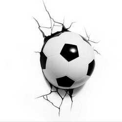 Lampada da parete a forma di pallone da calcio