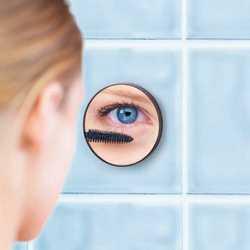 Specchietto con ventose effetto ingrandimento 5x