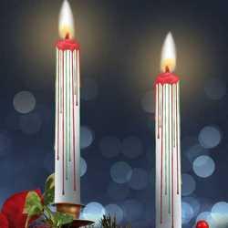 Set 2 candele natalizie