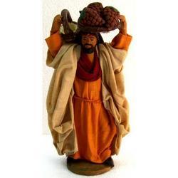 Personaggio per Presepe Fruttivendolo cm 12 terracotta e stoffa