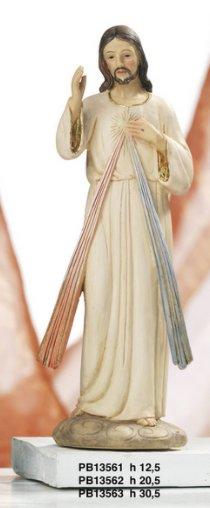 Statua Gesu' Misericordioso cm 30 in resina