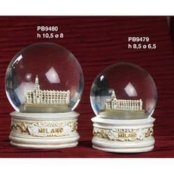 Globo in vetro con Duomo di Milano cm 10x5 in resina