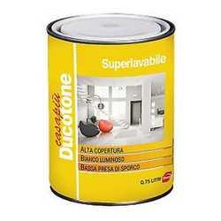 Idropittura murale bianca Ducotone Superlavabile 0.75 L
