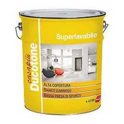 Idropittura murale bianca Ducotone Superlavabile 4 L