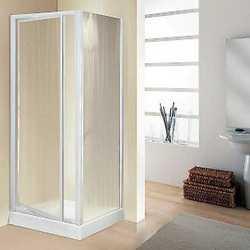 Porta doccia Elba 1 anta a battente piumato/bianco 68-72 cm