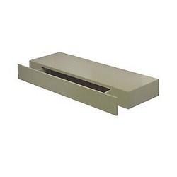 Mensola con cassetto grigio 77 x 25 cm