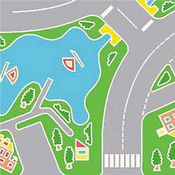 Pavimento PVC Fantasia multicolore 200 cm al mq