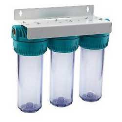 """Filtro per trattamento acque composto da 3 cartucce da 10"""""""