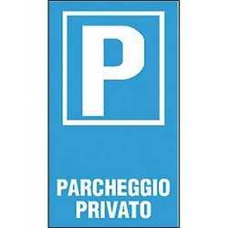 Targa parcheggio privato