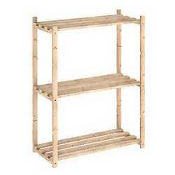 Scaffale legno ESCAFALLALE LEGNO 3 R REG. L 65 x P 30 x H 88 cm