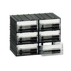 Cassettiera 6 cassetti nero 225 x 133 x 169 mm