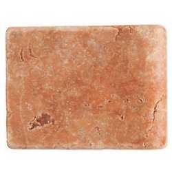 Piastrella con bordo Marmo Rosso Verona rosso 10 x 13 cm