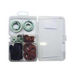 110 kit guarnizioni piatte, coniche, o-ring in fibra, PTFE, gomm