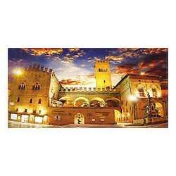 canvas Bologna piazza Maggiore 70x140