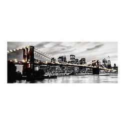 canvas Brooklyn lights 40x125