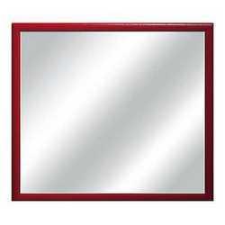 Specchiera Bomber rosso 54 x 54 cm