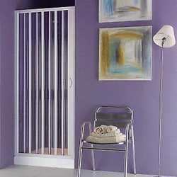 Porta doccia Playa pieghevole stampato/bianco 60-80 cm