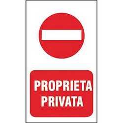 Targa proprieta privata