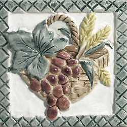 Piastrella con decoro Peru' Frutta Arequ verde