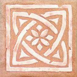 Piastrella con decoro Country Rilievo rosa 10 x 10 cm
