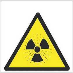 Pittogramma adesivo radioattività