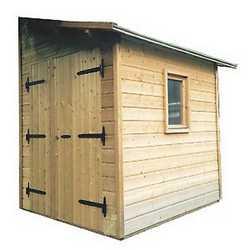 Casetta in legno addossata Flamy 210 x 246 cm, spessore 19 mm