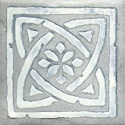 Piastrella con decoro Country azzurro 10 x 10 cm
