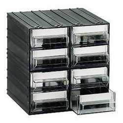 Cassettiera 8 cassetti nero 225 x 225 x 225 mm