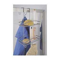 Mensola doccia Shower Lock 2 ripiani grigio
