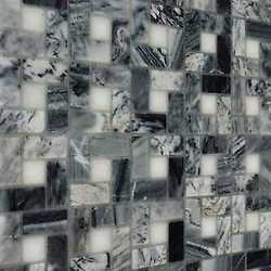 Mosaico Nido pietra grigio + bianco 30X30 bianco, grigio