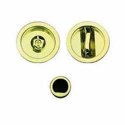 Maniglia per porta scorrevole tonda con nottolino, senza serratu