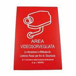Targa videosorveglianza