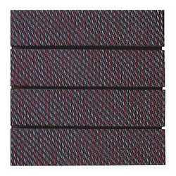 Piastrella Woven 30 x 30 cm x 32 mm rosso/nero puntinato bianco