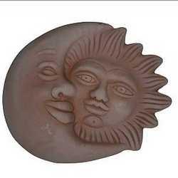 Sole e luna 22 x 26 cm cotto
