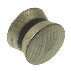 Calamita a bottone tondo argento