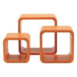 Mensola arancione 27 x 27 cm