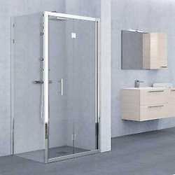 Porta doccia Elyt pieghevole trasparente/cromo 96-102 cm