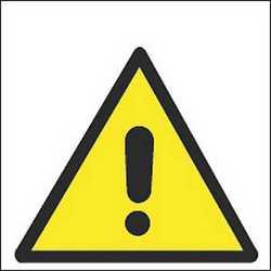 Pittogramma adesivo pericolo