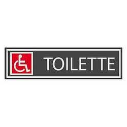 Targhetta adesiva toilette handicap