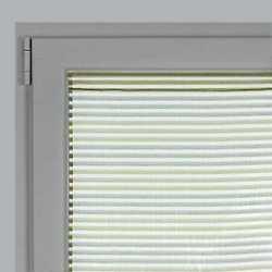 Tendina a vetro per porta finestra Righe orizzontali verde 60 x