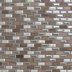 Mosaico Malibu' white 30X30 bianco, grigio