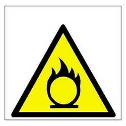 Pittogramma adesivo pericolo incendio