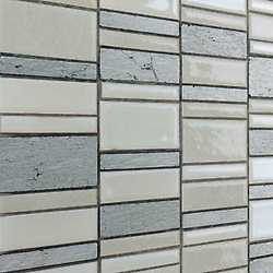 Mosaico Summer white 30X30 bianco, grigio