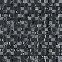 Mosaico Argento ardesia 15 30 x 30 nero, argento
