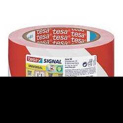 Nastro adesivo da segnalazione Tesa bianco e rosso 66 m x 50 mm