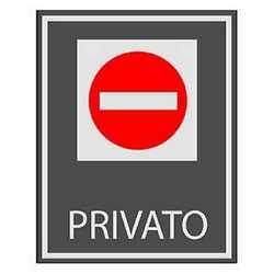 Targa adesiva privato